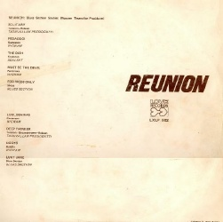 Reunion back cover
